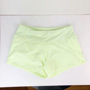 lululemon athletica Shorts - Lululemon Speed Short Size 4 Neon Yellow RAY?